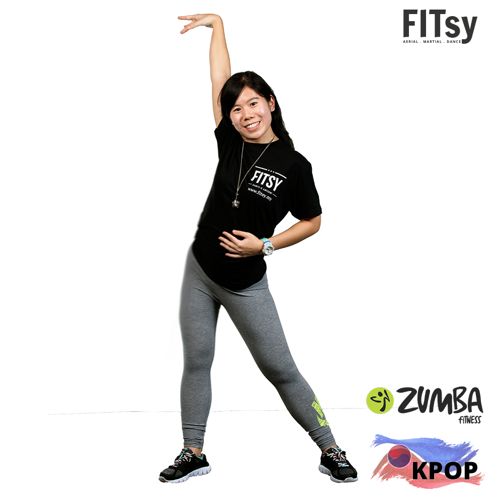 Zumba - A way to firm, tone and sweat while doing a lively, upbeat Latin dance routine. KPOP X Fitness - Zumba with Kpop Flavour. Involves dance and aerobic movements performed to energetic music