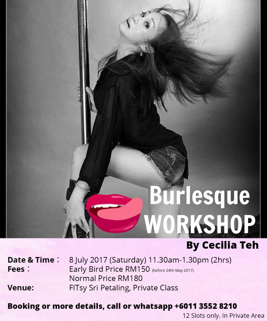 Naughty Burlesque Workshop with Cecilia Teh