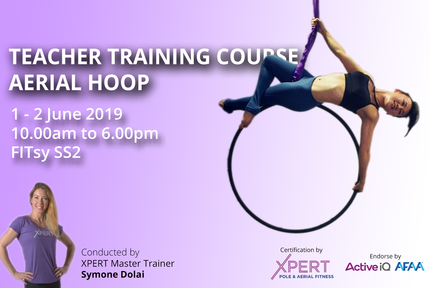 Aerial Hook / Lyra Teacher Training Course - Your journey to become instructor start here - June 2019 FITsy