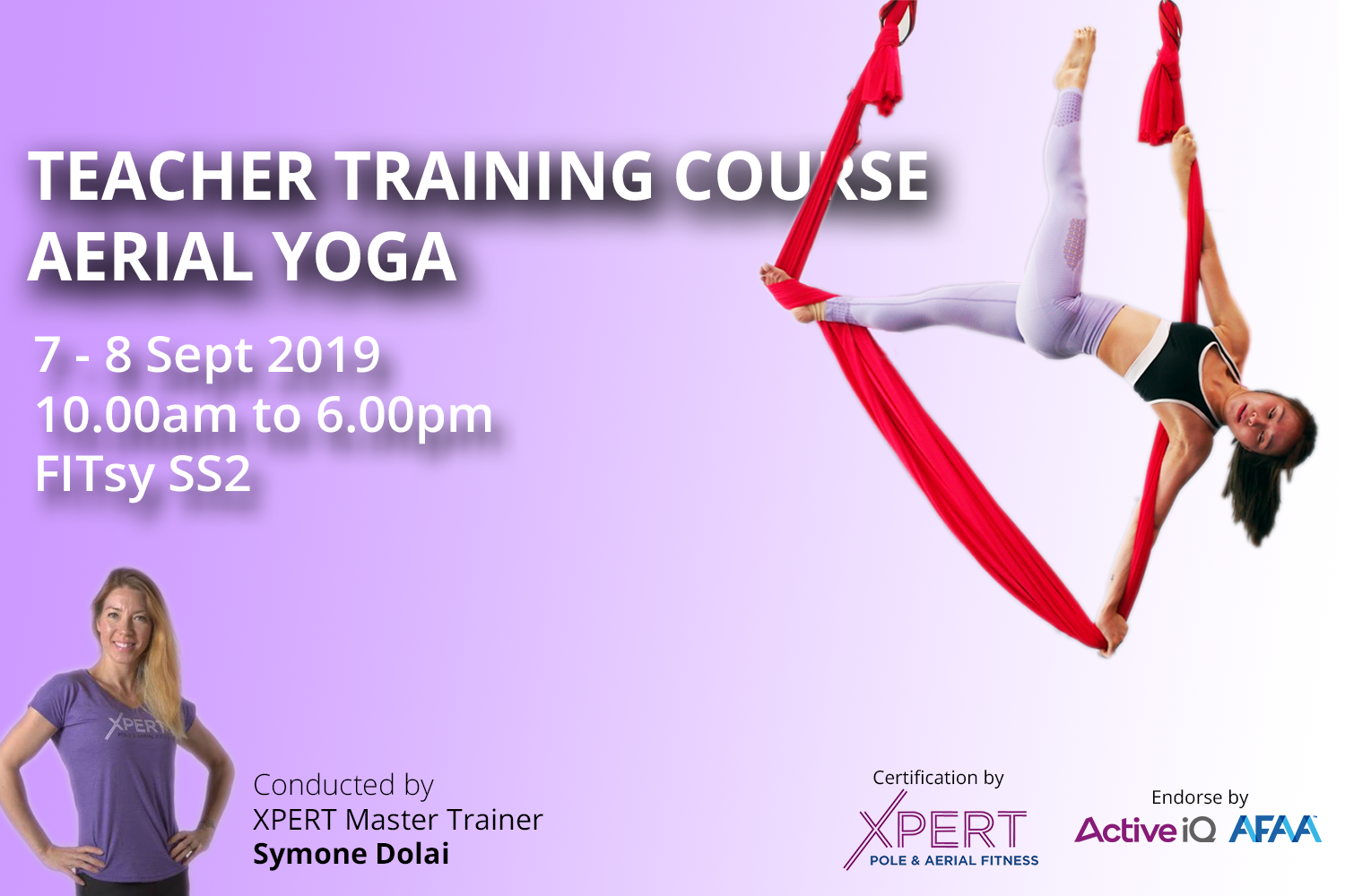 Aerial Hammock / Yoga / Fitness Teacher Training Course - Your journey to become instructor start here - Sept 2019 - FITsy