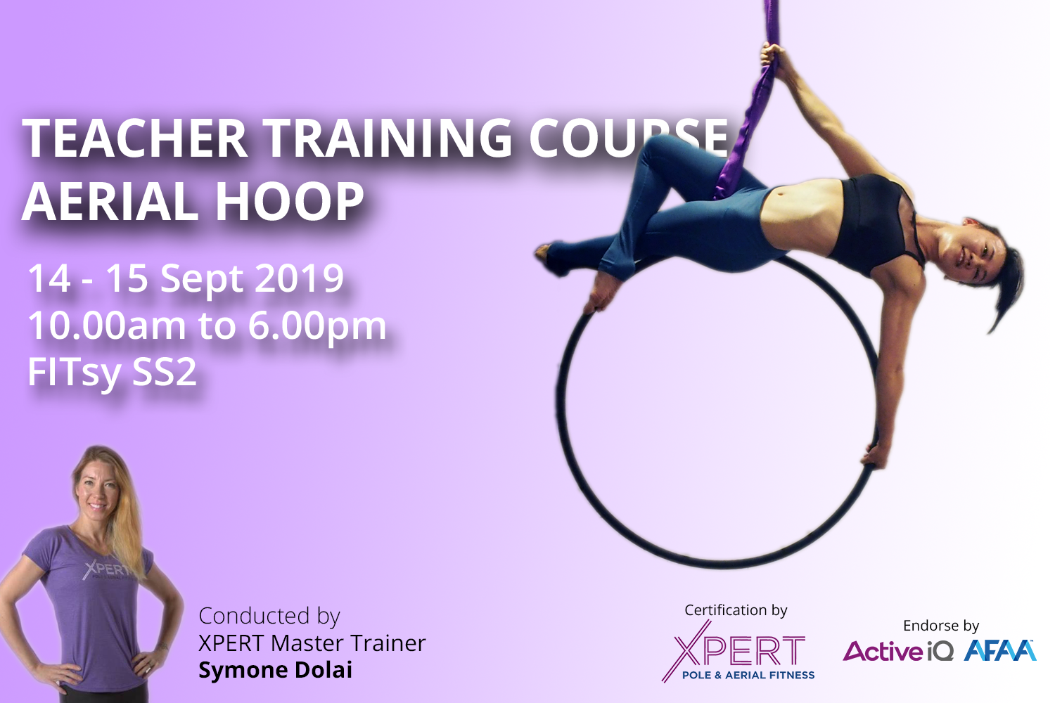 Aerial Hook / Lyra Teacher Training Course - Your journey to become instructor start here - Sept 2019 FITsy
